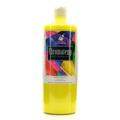 Chroma Inc. Chromatemp Artists Tempera Paint Yellow 32 Oz. [Pack Of 2] (2PK-2611)