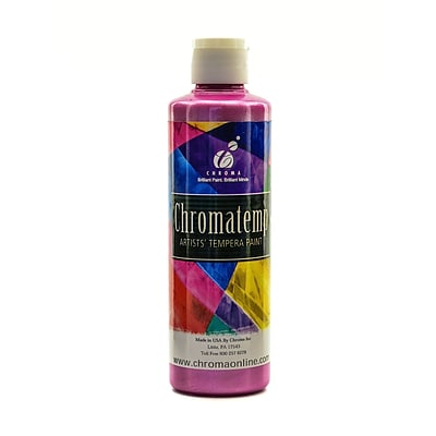 Chroma Inc. Chromatemp Pearlescent Tempera Paint Magenta 250 Ml [Pack Of 4] (4PK-2227)