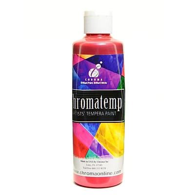 Chroma Inc. Chromatemp Pearlescent Tempera Paint Red 250 Ml [Pack Of 4] (4PK-2230)