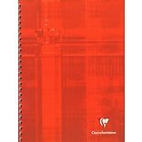 Clairefontaine Wirebound Multiple Subject Graph Paper Notebooks 60 Sheets With 12 Tabs 6 3/4 In. X 8