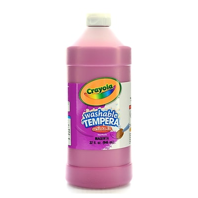 Crayola Artista Ii Liquid Tempera Paint Magenta 32 Oz. [Pack Of 3] (3PK-54-3132-069)