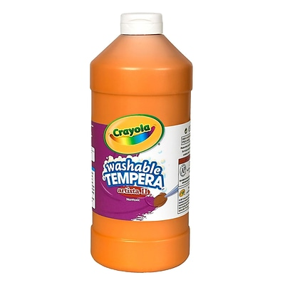 Crayola Artista Ii Liquid Tempera Paint Orange 32 Oz. [Pack Of 3] (3PK-54-3132-036)