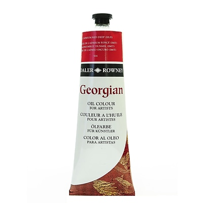 Daler-Rowney Georgian Oil Colours, Cadmium Red Deep Hue, 225 Ml (111225504)