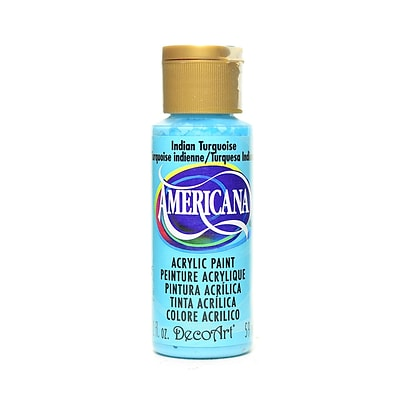 Decoart Americana Acrylic Paints Indian Turquoise 2 Oz. [Pack Of 8] (8PK-DA087-3)