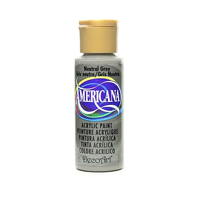 Decoart Americana Acrylic Paints Neutral Gray 2 Oz. [Pack Of 8] (8PK-DA95-3)