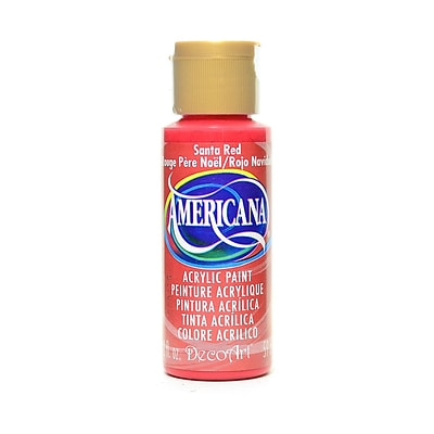Decoart Americana Acrylic Paints Santa Red 2 Oz. [Pack Of 8] (8PK-DA170-3)