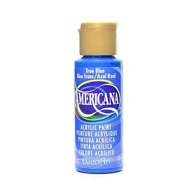 Decoart Americana Acrylic Paints True Blue 2 Oz. [Pack Of 8] (8PK-DA36-3)