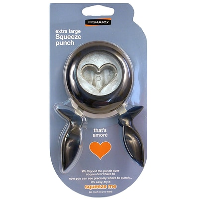 Fiskars Extra Large Squeeze Punch ThatS Amore (174190-1001)