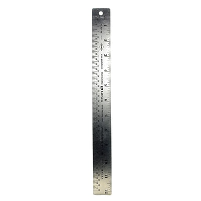 Gaebel Two-Sided Steel Rulers 12 In. 624 (624 12)
