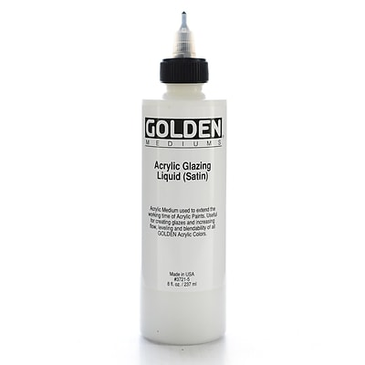 Golden Acrylic Glazing Liquid Satin 8 Oz. [Pack Of 2] (2PK-3721-5)