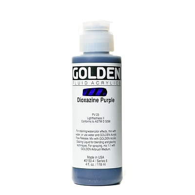 Golden Fluid Acrylics Dioxazine Purple 4 Oz. (2150-4)