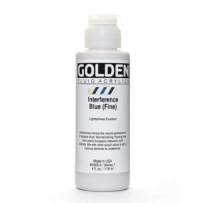 Golden Fluid Acrylics Interference Blue Fine 4 Oz. (2465-4)