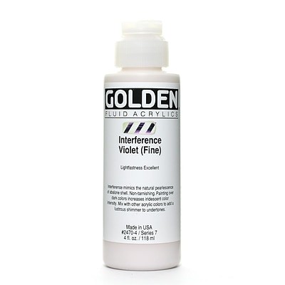 Golden Fluid Acrylics Interference Violet Fine 4 Oz. (2470-4)