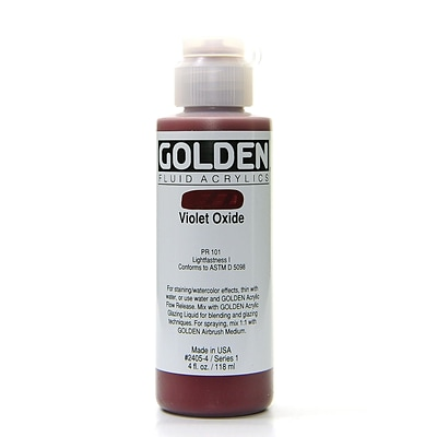 Golden Fluid Acrylics Violet Oxide 4 Oz. [Pack Of 2] (2PK-2405-4)