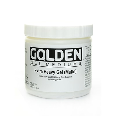 Golden Gel Mediums Extra Heavy Matte 16 Oz. (3090-6)