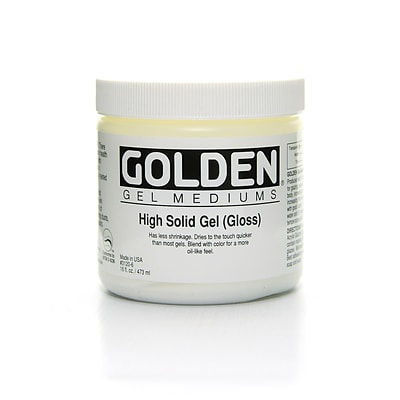 Golden Gel Mediums High Solid Gloss 16 Oz. (3120-6)