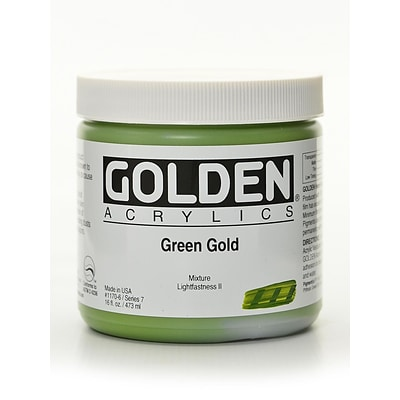 Golden Heavy Body Acrylics Green Gold 16 Oz. (1170-6)