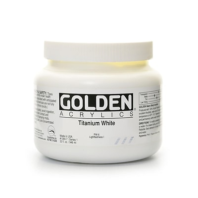 Golden Heavy Body Acrylics Titanium White 32 Oz. (1380-7)