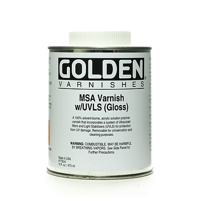Golden Msa (Mineral Spirit Acrylic) Varnish With Uvls Gloss 16 Oz. (7730-6)