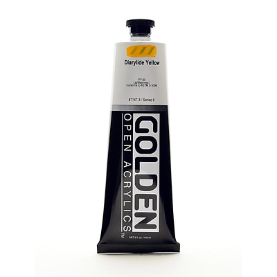 Golden Open Acrylic Colors Diarylide Yellow 5 Oz. Tube (7147-3)