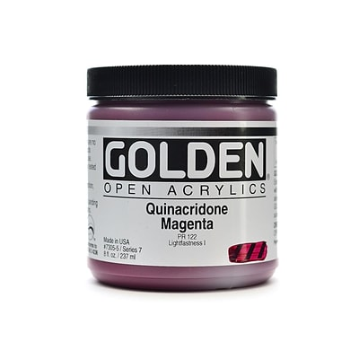 Golden Open Acrylic Colors Quinacridone Magenta 8 Oz. Jar (7305-5)