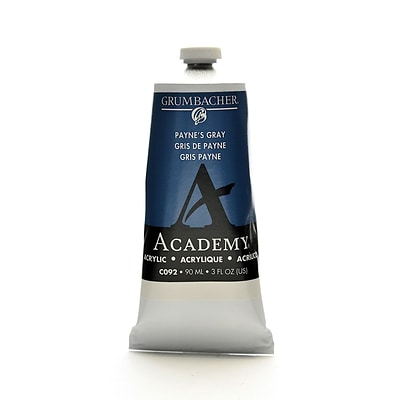 Grumbacher Academy Acrylic Colors PayneS Gray 3 Oz. (90 Ml) [Pack Of 3] (3PK-C092)