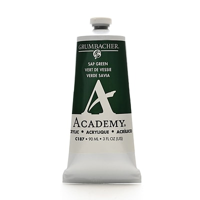 Grumbacher Academy Acrylic Colors Sap Green 3 Oz. (90 Ml) [Pack Of 3] (3PK-C187)