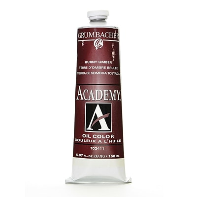 Grumbacher Academy Oil Colors Burnt Umber 5.07 Oz. (T024-11)