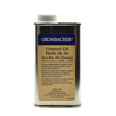 Grumbacher Linseed Oil 8 Oz. (558-8)