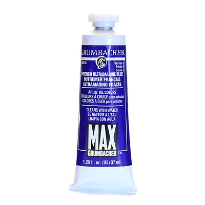 Grumbacher Max Water Miscible Oil Colors French Ultramarine Blue 1.25 Oz. [Pack Of 2] (2PK-M076)