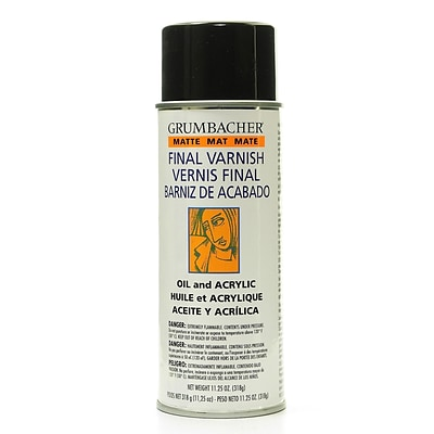Grumbacher Picture And Oil Painting Varnish Matte 11.25 Oz. (542)