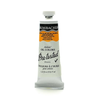Grumbacher Pre-Tested Artists Oil Colors Diarylide Yellow P060 1.25 Oz. [Pack Of 2] (2PK-P060G)