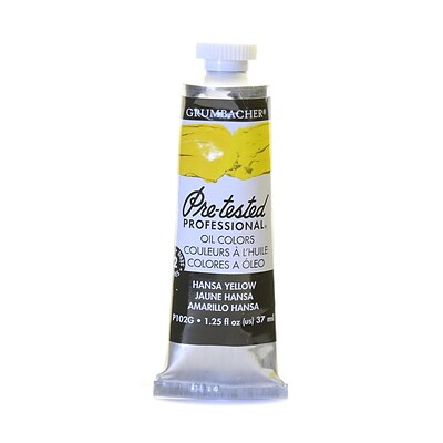 Grumbacher Pre-Tested Artists Oil Colors Hansa Yellow P102 1.25 Oz. [Pack Of 2] (2PK-P102G)