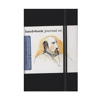 Hand Book Journal Co. Travelogue Drawing Journals 3 1/2 In. X 5 1/2 In. Portrait Ivory Black (721211)