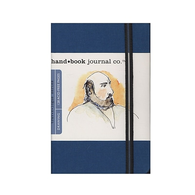 Hand Book Journal Co. Travelogue Drawing Journals 3 1/2 In. X 5 1/2 In. Portrait Ultramarine Blue (721212)