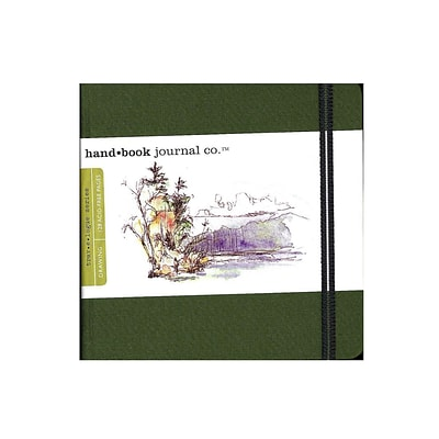 Hand Book Journal Co. Travelogue Drawing Journals 5 1/2 In. X 5 1/2 In. Square Cadmium Green (721333)