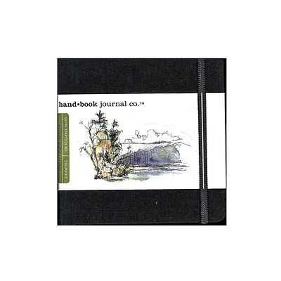 Hand Book Journal Co. Travelogue Drawing Journals 5 1/2 In. X 5 1/2 In. Square Ivory Black [Pack Of 2] (2PK-721331)