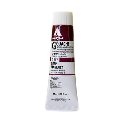 Holbein Acryla Gouache 20 Ml Deep Magenta [Pack Of 2] (2PK-D117)