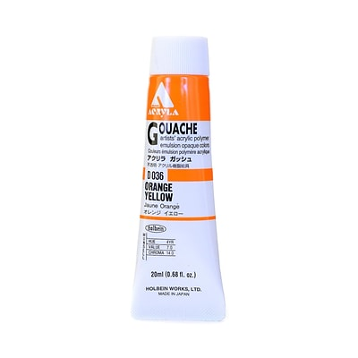 Holbein Acryla Gouache 20 Ml Orange Yellow [Pack Of 2] (2PK-D036)