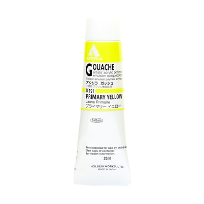 Holbein Acryla Gouache 20 Ml Primary Yellow [Pack Of 2] (2PK-D191)