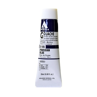 Holbein Acryla Gouache 20 Ml Prussian Blue [Pack Of 2] (2PK-D105)