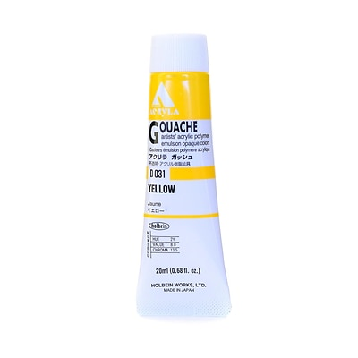 Holbein Acryla Gouache 20 Ml Yellow [Pack Of 2] (2PK-D031)