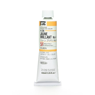 Holbein Artist Oil Colors Jaune Brillant #4 40 Ml [Pack Of 2] (2PK-H236)