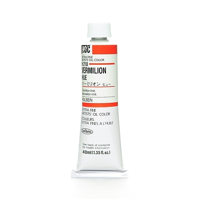 Holbein Artist Oil Colors Vermilion Hue 40 Ml [Pack Of 2] (2PK-H218)