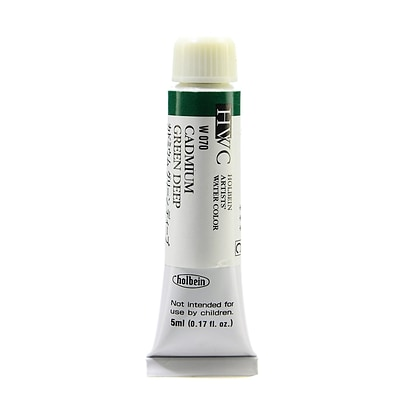 Holbein Artist Watercolor Cadmium Green Deep 5 Ml [Pack Of 2] (2PK-W070)