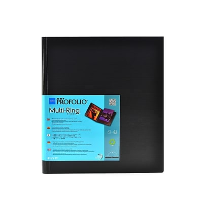 Itoya Art Profolio Multi-Ring Binder And Refills 8 1/2 In. X 11 In. Vertical Binder (RB-8-11)