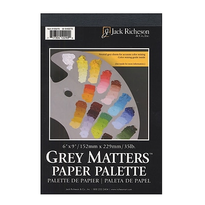 Jack Richeson Grey Matters Paper Palettes 6 In. X 9 In. [Pack Of 4] (4PK-100279)