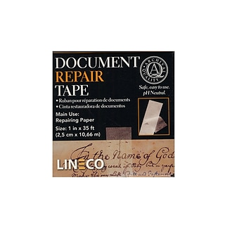 Lineco Document Repair Tape 1 In. X 35 Ft. [Pack Of 2] (2PK-901-0198)