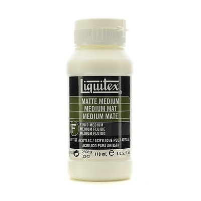 Liquitex Acrylic Matte Medium 4 Oz. [Pack Of 2] (2PK-5104)
