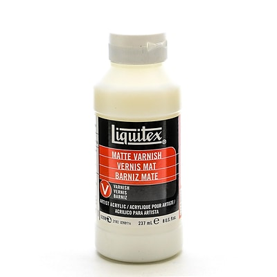 Liquitex Acrylic Permanent Matte Varnish 8 Oz. [Pack Of 2] (2PK-5208)